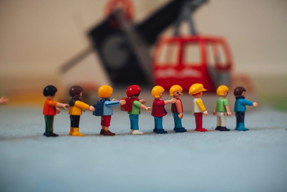 A group of toy people